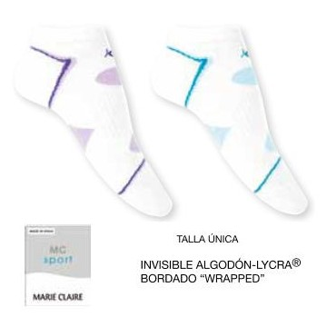 CALCETIN INVISIBLE MUJER ALGODON-LYCRA MC WRAPPED 2 UDS