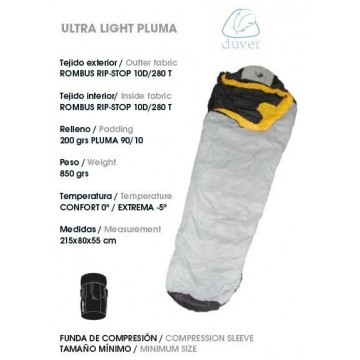SACO DE DORMIR JOLUVI ULTRA LIGHT PLUMA