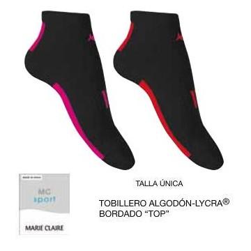 TOBILLERO MUJER ALGODON LYCRA MC TOP 2 UDS