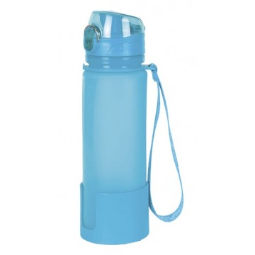 BOTELLA DE SILICONA LHOTSE FLASK AZUL 650 ML