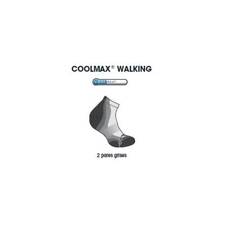 CALCETIN JOLUVI COOLMAX WALKING PACK 2 NEGRO/CENIZA