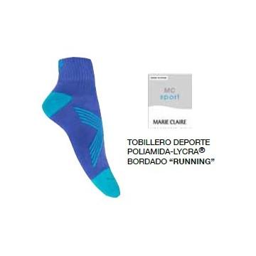 TOBILLERO MUJER MC RUNNING POLIAMIDA/LYCRA AZULON