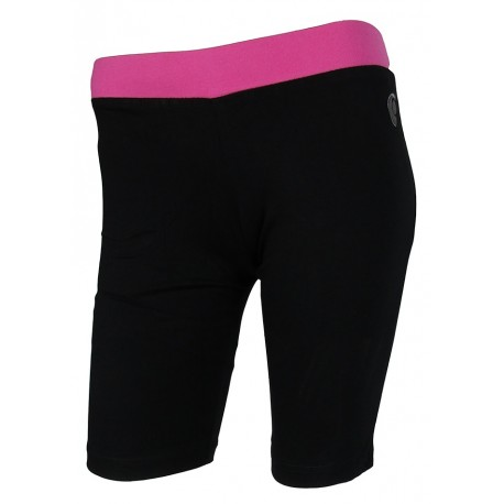 MAXI SHORT FITNESS MUJER CANNON Y-570 NEGRO/FUCSIA