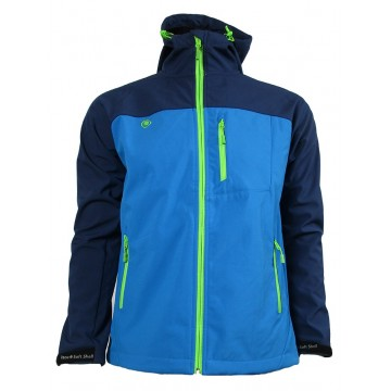 CHAQUETA SOFTSHELL IZAS BASILE BLUEMOON/BLUE RIVER