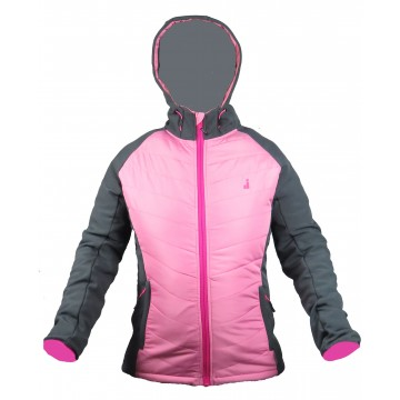 CHAQUETA HHIBRIDA JOLUVI HILL TOP WOMAN ROSA/ANTRACITA