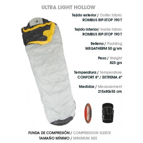 SACO DE DORMIR JOLUVI ULTRA LIGHT HOLLOW
